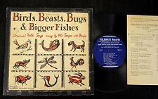 """10"""" FOLK LP Pete Seeger Folkways 71 Birds, Beasts, Bugs"""