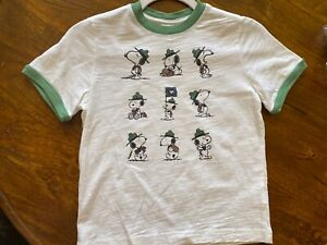 hanna andersson 120 boys white snoopy T-Shirt