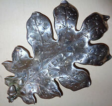 Antique Chinese Export sterling Silver Oak Leaf And Acorn Dish tray aesthetic