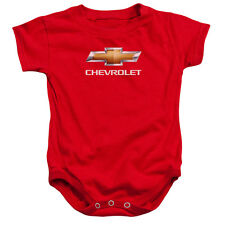 Chevrolet Logo Bow Tie Red Infant Babies Romper