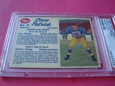 1962 Post Cereal CFL  #79 STEVE PATRICK  psa  Winnipeg BLUE BOMBERS (342)