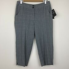 Rafaella Womens Career Dress Pants Modern Fit Cropped 2 Way Stretch Gray Size 6P