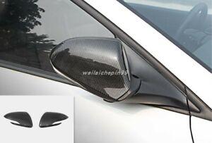 Carbon Fiber Side Door Rearview Mirror Cover Trim For Hyundai Elantra 2017-2019