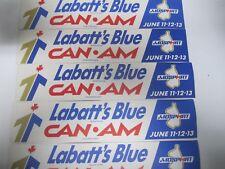 1971 Labatt's Blue Trophy Can-Am Challenge Race Mosport Bumper Sticker Lot of 10