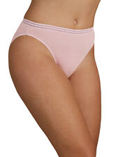 M & S Size 12 NO VPL High Leg Knickers Panties Briefs Cotton Blend Dusty Pink