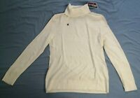 Bosco Women's White Turtleneck Wool Cashmere Jumper Size M Medium New With Tags