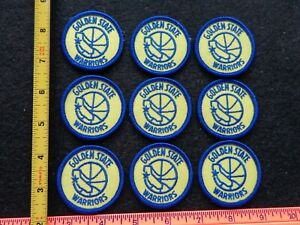Vintage NBA Golden State Warriors Patches  2 inch Round 9 Pc Lot OLD SCHOOL NOS
