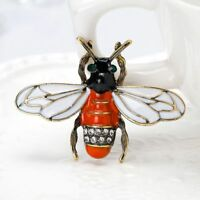 Lovely Rhinestone Bee Insect Shape Lapel Pin Brooch Fashion Jewelry Metal