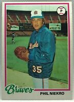1978 Topps Phil Niekro #10 Atlanta Braves EX Excellent HOF