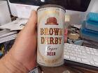VINTAGE BROWN DERBY LAGER 12 OZ BEER CAN, ROUND TOP, SANTA ROSE, CALIFORNIA