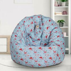 Bean Bag Cover sky blue Without Beans Organic Cotton XXL Premium Printed Homes