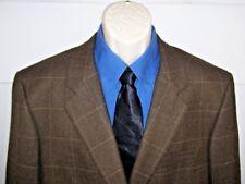 Club Room Exclusive for Macy's Mens Blazer Window Pane 44 Reg 2 Button Wool Vent