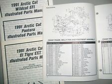1991 Arctic Cat Snowmobile Illustrated Parts Manuals - Chose Your Model on List