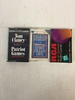 Lot of 3 Audio AudioBook Cassette Tapes