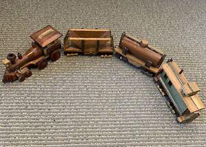 Treen Train Set . Handmade Train Toy .  Wood Train. Scratch Built Train