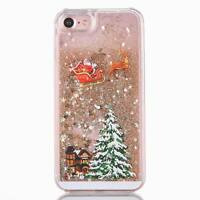 Luxury Quicksand Christmas Tree Pattern Hard Case Cover For iPhone 8 6s 7 Plus X