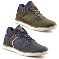 Mens Casual Lace Up Walking Hiking Sports Mid Ankle Trainers Boots Shoes Size