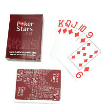 Red Plastic Texas Poker Playing Cards Sealed Standard Casino Regular Size