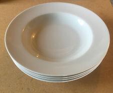 "Porcellane Tognana Rimmed Soup Pasta Bowls - White - 4 Total 10 3/4"" Wide NEW"