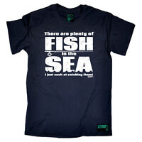 Fishing T-Shirt Funny Novelty Mens tee TShirt - There Are Plenty Of Fish In The