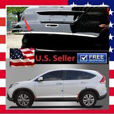 5PC Rear Trunk Lid + Side body door molding chrome trim For HONDA CRV 2012 -2016
