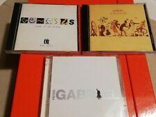 GENESIS + P. GABRIEL - Mini lotto 3x CD Audio (1 doppio) - Originali A. 94-99-03