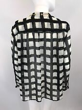 Michael Kors Women's Black White Blouse Sz 1X *I27