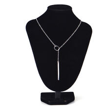 Women Personality Simple STUNNING Golden Bar Circle Lariat Necklace Jewelry 3c Gold