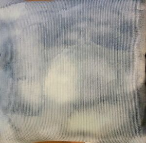 Hotel Collection Decorative Pillow 20 x 20 Ethereal Blur White Striped $150