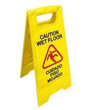 English Amp Spanish Wet Floor Sign Bright Yellow Plastic Pack Of 2290391 Bai