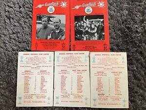 ARSENAL West Ham Reading Cardiff City 1971/72 Combination Programme Gunflash