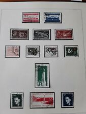 DDR 1957 p 26 of safe album,   page with fine used  stamps
