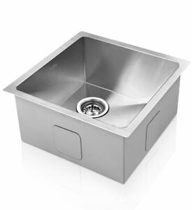 Cefito Kitchen Sink Stainless Steel Under/Top Handmade Laundry 440x440mm