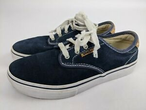 Vans Skate Shoes Navy Blue Sneaker Youth Size 4 TB4R Shoes