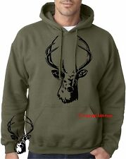 DEER Stag Hunter buck elk hunting Hoodies Fathers Day Birthday Xmas Gift hooded