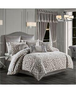 New J Queen New York Belvedere 4 Piece King Comforter Set MSRP $379.99