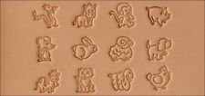 Cartoon Animal Stamp Set 8159-00 by Tandy Leather