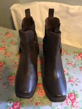 Ladies Next Brown Ankle Boots - Size 40 - 7