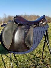 "New listing Spirig 17"" black/brown XC jumping saddle, MW tree, made in Switzerland."