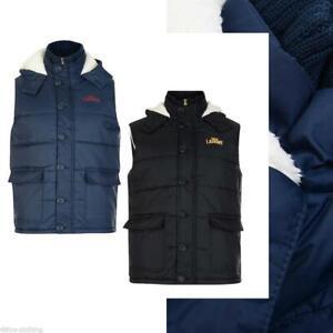 Men Tokyo Laundry Gilet Borg Lined Hooded Bodywarmer 1J6856