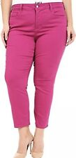 "NYDJ Not Your Daughters IRA Jeans Stretch Pink Denim Ankle Size 14W/26"" NWT"