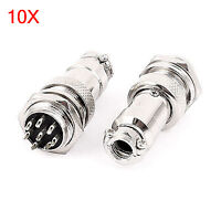 10 Sets GX16-8 16mm 8 Pin Male & Female Wire Panel Connector Circular Aviation C