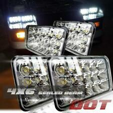 "DOT 4""x6"" LED Headlights Light Bulbs Replace H4656/4651 Sealed Headlamp (Set 4)"