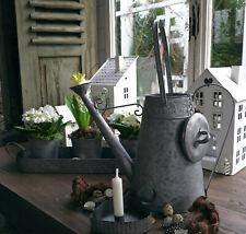Neues AngebotGießkanne Zink Kanne Metall Antik Shabby Vintage Garten Landhaus Nostalgie Groß