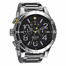 NEW Nixon Watch 48-20 Chrono Black Silver  A486-000 A486000 100% Authentic