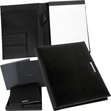 HUGO BOSS - A5 - Schreibmappe - Meetingmappe - Schreibblock Mappe - Leder - NEU