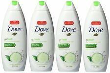 Dove Cool Moisture Cucumber & Green Tea Body Wash 22 oz (4 Pack)