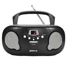 Groov-e GVPS733BK Original Boombox Portable CD Player With Radio Black UK Plug