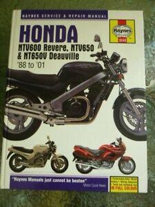 Honda NTV600 Revere, NTV650 & NTV650V Deauville '88-'01 by Haynes Service & Repa