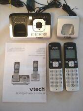 VTech 2 Handset Cordless Phone DECT 6.0 - Digital Answering Machine (CS6829-2)